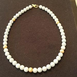 Jewelry - Milky Aquamarine Bead Necklace
